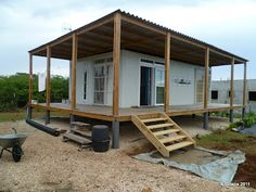 container homes plans Shipping Container Homes: Criens, Trimo - Bonaire, Caribbean - Shipping Container Home Who Else Wants Simple Step-By-Step Plans To Design And Build A Container Home From Scratch? Cargo Container Homes, Shipping Container Home Designs, Building A Container Home, Storage Container Homes, Container House Plans, Container House Design, Shipping Containers, Shipping Container Cabin, Shipping Container Buildings