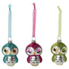 Owl+Ornament+Set+Of+3,+$9, now featured on Fab.