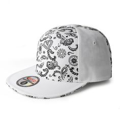 Bandana Print Fitted Cap