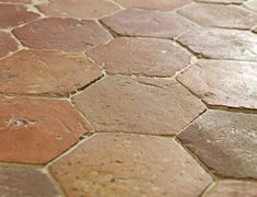 French Terracotta Hexagon Handmade Clay Floor Tiles - traditional - floor tiles - london - Lapicida Stone Group
