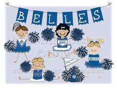 Varsity Shop Notecards  The Belles of Saint by MissMASHDesigns, $10.00