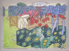 Gerald Shepherd: The Artist's Wife In A Garden 2