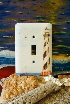 Vintage Single Light Switch Metal Cover Plate by Deco Style - Lighthouse in Home & Garden, Home Improvement, Electrical & Solar | eBay