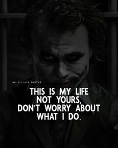 Joker Love Quotes, Psycho Quotes, Gangster Quotes, Karma Quotes, Badass Quotes, Reality Quotes, Wise Quotes, Mood Quotes, Qoutes