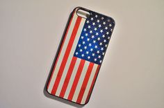 American Flag Personalized Embossed Painted Hard Cover Case for Apple Iphone 4/4S/5/5S on Etsy, $7.99