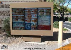 Wendy's Phoenix, AZ - ViewStation QSR Drive-Thru Menu Boards & Digital Signage by ITSENCLOSURES #ViewStation