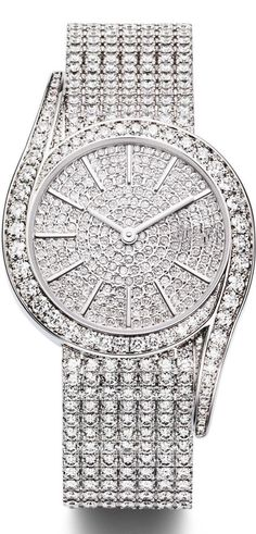 5e394420ee 925 sterling silver watch full studded cubic zirconia white round precious  jewel #Unbranded Bijouterie De