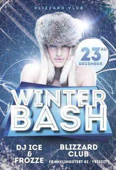 Winter Bash Flyer Template https://noobworx.com/store/winter-bash-flyer-template/?utm_campaign=coschedule&utm_source=pinterest&utm_medium=NoobWorx&utm_content=Winter%20Bash%20Flyer%20Template #free #flyer #template