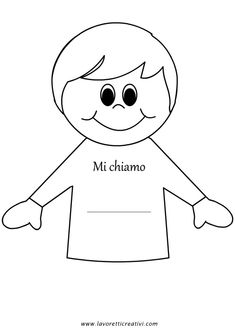 Lavoretto accoglienza scuola infanzia – Bambino First Day School, Beginning Of School, Pre School, Back To School Activities, Preschool Activities, How To Speak Italian, Coloring Books, Coloring Pages, Quiet Book Templates