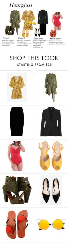 """""""Hourglass Body Fashion Guide"""" by teddyrose on Polyvore featuring Monki, Zimmermann, Jupe By Jackie, Alexander McQueen, Fantasie, SPECIAL DAY, MANGO and IPANEMA"""