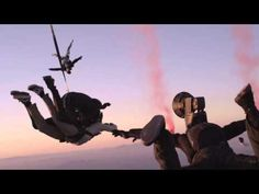 In the video that documents the action—filmed and directed by Sara Dunlop Nick recorded a video, took pictures, and uploaded the pictures before reaching the ground.
