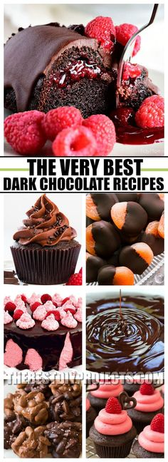 These Dark Chocolate Recipes are just what you need when you are craving a sweet treat that is not loaded with tons of sugar! It hits the spot and takes care of your sweet-tooth no problem!