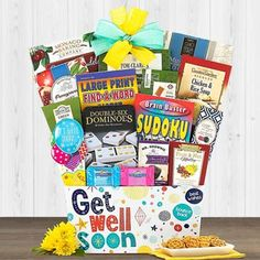 Get Well Gift Baskets - Get Well Soon Basket Get Well Soon Basket, Get Well Gift Baskets, Get Well Soon Gifts, Feeling Under The Weather, Wellness, Feelings, Get Well Gifts