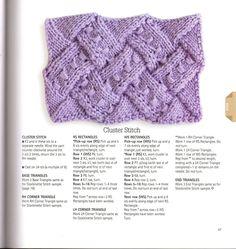Entrelac - Cluster Stitch.