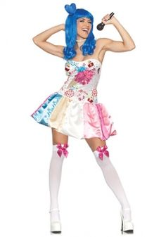 katy perry candy cupcake california girls costume dress adult women s m l xl