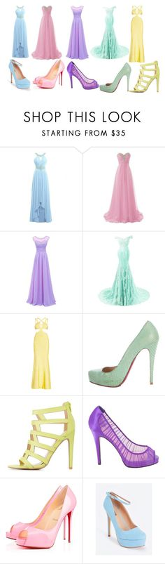 """""""Untitled #392"""" by megibson2005 on Polyvore featuring Hervé Léger, Christian Louboutin, Qupid, Privé and JustFab"""