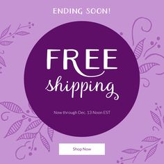 Free shipping ends soon!