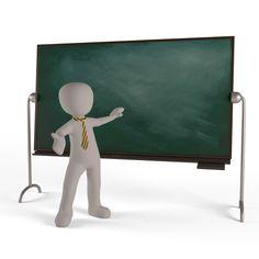 3d man teacher blackboard