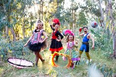 Circus costumes - could totally incorporate mom and dad costumes into this theme.
