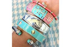 Monogram Cuff paired with: Amris, Grecian, Spade and London Bracelets