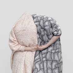 hide - pink and grey- blankets by nienke Hoogvliet- also at AnnLiz