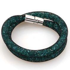 Crystal Bracelets Mesh Chain With Full Resin Crystal Magnetic Double Wrap Bracelet For Women Gift B1438