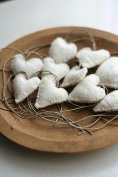 corazones blancos