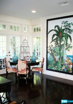 Mary McDonald Dining Table Chairs, Tables, Dining Room, Interior Design Masters, Mary Mcdonald, Chinoiserie Chic, Tropical Design, Apt Ideas, Florida Home