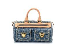 Auth Pre Owned Louis Vuitton Monogram Denim Neo Speedy Blue M95019 #LouisVuitton #Handbag