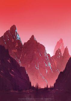 John Avon - Unhinged Lithograph - Mountain (Exclusive Magic Lithographs)