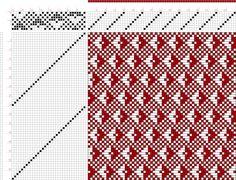 draft image: Page 048, Figure 13, Atlas D'Armures Textiles, B. Fressinet, 8S, 32T
