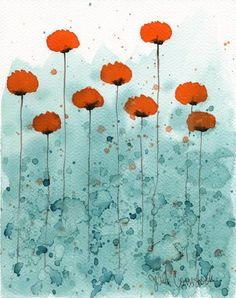 Poppies.  I don't know the artist. 