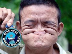 Tang Shuquan, la plus belle grimace - Les 20 records du monde les plus insolites - Hugo Red - Pour une saint-valentin créative