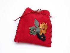 Mała torebka Czerwona w AB art na DaWanda.com