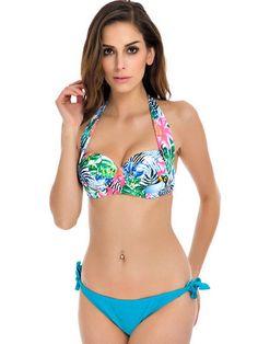 NAKIAEOI 2016 New Sexy Bikinis Women Swimsuit Push Up Bikini Set Bathing Suits Halter Summer Beach Wear Plus Size Swimwear XXL