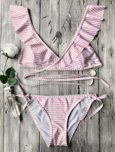 Conjunto De Bikini De Cuerda - Rosa S