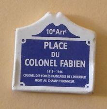 Fève du MH 2000 - Places de Paris : La Place du Colonel Fabien