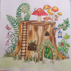 Take A Peek At This Great Artwork On Johanna Basfords Colouring Gallery Find Pin And More Tronco Floresta Encantada