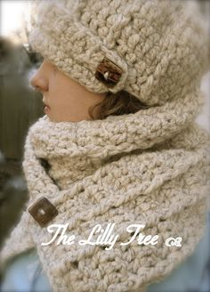 Three Piece Ensemble of the Chunky Cable Baker Boy Brimmed hat and matching  Scarf 55 . c59f1c886efb