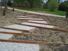 Have a peek right here for Landscape Steps Backyard Walkway, Sloped Backyard, Sloped Garden, Backyard Landscaping, Landscape Stairs, Urban Landscape, Landscape Architecture, Landscape Design, Garden Design