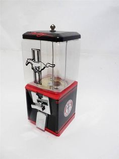 MUSTANG sports car vintage gumball machine original coin op candy machine