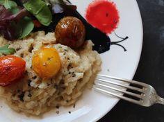 Risotto au gorgonzola aux tomates cerises