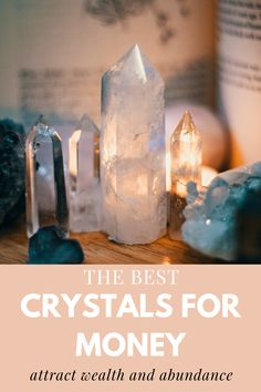 Attract wealth like a magnet into your life with these crystals. #abundance #crystals #stones Crystals For Wealth, Crystals In The Home, Crystal Healing Stones, Stones And Crystals, Yoga A Diario, Chakras, Spiritual Manifestation, Sword In The Stone, Lucky Stone