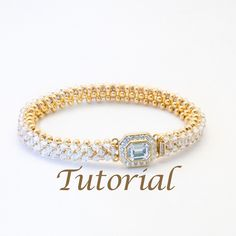 Gold Metal Seed Bead and Crystal Bracelet Pattern Best Friend Digital Download by JewelryTales on Etsy https://www.etsy.com/listing/92795375/gold-metal-seed-bead-and-crystal