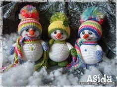 Снеговики - Игрушки крючком