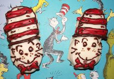"Nutter Butter ""Cat in the Hat"" -- Click through for the complete lunch from the post ""Read Across America and Dr. Seuss Lunch"""