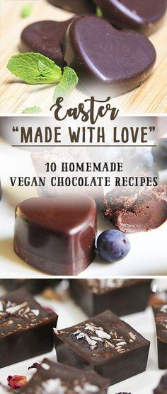dark blue, desserts Vegan Easter 'Made With Love' – 10 homemade chocolate recipes by Trinity Dessert Sans Gluten, Vegan Dessert Recipes, Dinner Recipes, Vegan Candies, Vegan Treats, Vegan Food, Vegan Chocolate, Chocolate Smoothies, Chocolate Mouse