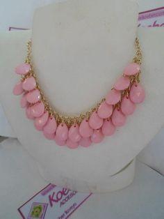 MAXICOLLAR rosa y dorado! Ven a tienda o pide a domicilio. Búscanos en www.facebook.com/koeberaccesorios <3 <3