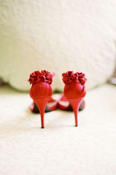 Ruffly, sexy heels - our roundup of fabulous unconventional shoes for you to wear on your wedding day.