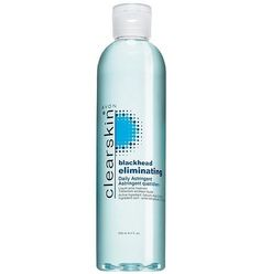 Avon Clearskin Astringent Liquid Black Head Eliminator Acne Pimples by avon clearskin Astringent. $7.24. Great for teenagers. *****PRICE IS FOR 1 BOTTLE OF AVON ASTRINGENT. Avon Black Head Eliminator Astringent. Blue Color Liquid large bottle 8.4 fl.0z.. acne and pimple treatment. Avon Clearskin Black Head Eliminator for fast clearing action of pimples on face Liquid astringent in new bottle  plastic squeeze bottle ***PRICE IS FOR 1 BOTTLE OF LIQUID FACIAL ASTR...